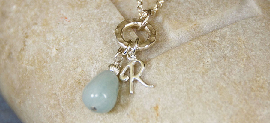 Personalised amazonite necklace 2_HOME PAGE